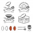 Tailgate party design elements set — Stok Vektör