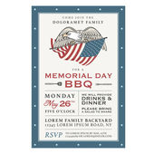 Memorial Day barbecue invitation — Stock Vector