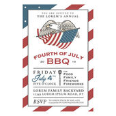 Vintage Independence Day barbecue invitation — Stock Vector