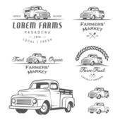 Set of retro farming labels, badges and design elements — Stock Vector