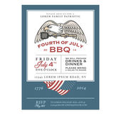 Vintage 4th of July Independence Day barbecue invitation — Stock Vector