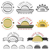 Mexican taco design elements — Stock Vector