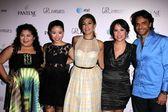 Raini Rodriguez, Cierra Ramirez, Eva Mendes, Patricia Riggen, Eugenio DerbeZ — Stock Photo