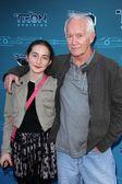 Lance Henriksen and daughter Sage — Stock Photo