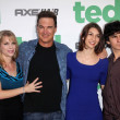 Patrick Warburton and family - ストック写真