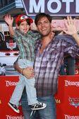 Patricio Borghetti and son — Stock Photo