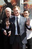 Michael Caine, Christopher Nolan, Joseph Gordon-Levitt — Stockfoto