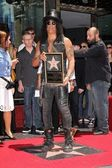 Slashat Slash Honored with a Star on the Hollywood Walk of Fame — Stock Photo