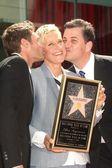 Ryan Seacrest, Ellen Degeneres, Jimmy Kimmel — Stock Photo