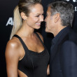 Stacy Keibler, George Clooney — Stock Photo