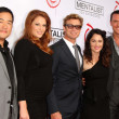 Постер, плакат: Tim Kang Amanda Righetti Simon Baker Robin Tunney Owain Yeoman at the CBS Celebration of the 100 Episodes Of The Mentalist The Edison Los Angeles CA 10 13 12