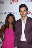 Brandee Tucker, Michael Steger at The Sessions Los Angeles Premiere, Bing Theatre, Los Angeles, CA 10-10-12 — Stock Photo