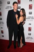 Cory Monteith, Lea Michele at the Premiere Screening of FXs American Horror Story Asylum, Paramount Theater, Hollywood, CA 10-13-12 — Stock Photo