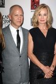 Ryan Murphy, Jessica Lange at the Premiere Screening of FXs American Horror Story Asylum, Paramount Theater, Hollywood, CA 10-13-12 — Stock Photo