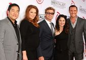 Tim Kang, Amanda Righetti, Simon Baker, Robin Tunney, Owain Yeoman at the CBS Celebration of the 100 Episodes Of The Mentalist, The Edison, Los Angeles, CA 10-13-12 — Stock Photo