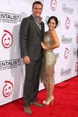 Owain Yeoman, Gigi Yallouz at the CBS Celebration of the 100 Episodes Of The Mentalist, The Edison, Los Angeles, CA 10-13-12 — Stock Photo