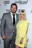 Chris Pratt, Anna Faris at Reel Stories Real Lives presented by The Motion Picture and Television Fund, Milk Studios, Los Angeles, CA 10-20-12 — Stock Photo