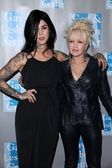 Kat Von D and Cyndi Lauper at the L.A. Gay and Lesbian Centers An Evening With Women, Beverly Hilton Hotel, Beverly Hills, CA. 04-16-11 — Stock Photo