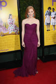"""Jessica Chastain at """"The Help"""" Los Angeles Premiere, AMPAS Samuel Goldwyn — Stock Photo"""
