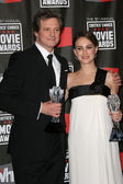 Colin Firth and Natalie Portman — Stock Photo