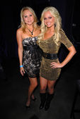 Alana Curry and Katie Lohmann at Bridgetta Tomarchios Birthday Bash and Babes in Toyland 3rd Annual Charity Event, Bar 210, Beverly Hills, CA. 12-03-10 — Stock Photo