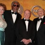 Tova Borgnine and Morgan Freeman, Tim Conway and Ernest Borgnine — Stock Photo
