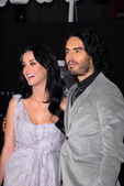 Katy Perry and Russell Brand — Stock Photo