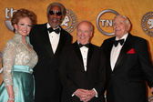 Tova Borgnine and Morgan Freeman, Tim Conway and Ernest Borgnine — Стоковое фото