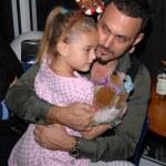 Spiros Poros and daughter — Stock Photo #14141428