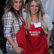Haylie Duff, Hilary Duff at Skid Row Block Party at Los Angeles Mi — Stock Photo #14144627