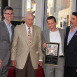 Stock Photo: John Henson, Carl Reiner, Jon Cryer, Chuck Lorre at Jon Cryer's induction