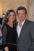 Colin Firth and wife Livia Giuggioli — Stock Photo