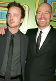 Aaron Paul and Bryan Cranston at HBOs 68th Annual Golden Globe Awards Official After Party, Circa 55 Restaurant, Beverly Hills, CA. 01-16-11 — Stock Photo