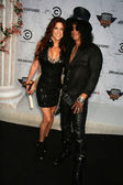 Slash and wife Perla Ferrar — Stock Photo