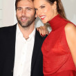 Постер, плакат: Alessandra Ambrosio and Jaime Mazur at Rodeo Drive Walk Of Style Honoring Iman And Missoni Rodeo Drive Beverly Hills CA 10 23 11