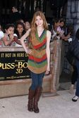 Katherine McNamara at the Puss In Boots Los Angeles Premiere, Village Theater, Westwood, CA 10-23-11 — Stock Photo
