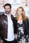 Jon Hamm and Jennifer Westfeldt — Stock Photo