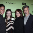 Stock Photo: Hailee Steinfeld with Brother Griffin and Parents Cheri and Pete at the Fourth Annual Women in Film Pre-Oscar Cocktail Party