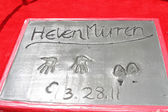 Helen Mirren Hand and Foot Print — Stock Photo