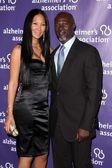 Kimora Lee and husband Djimon Hounsou — Stock Photo