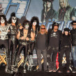KISS and Motley Crue  at the KISS & Motley Crue Press Conference, Roosevelt Hotel, Hollywood, CA 03-20-12 - 图库照片