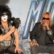 Paul Stanley, Vince Neil  at the KISS & Motley Crue Press Conference, Roosevelt Hotel, Hollywood, CA 03-20-12 - 图库照片