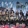 Постер, плакат: KISS and Motley Crue at the KISS & Motley Crue Press Conference Roosevelt Hotel Hollywood CA 03 20 12