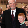 Malcolm McDowell and son Beckett  at the Malcolm McDowell Star on the Hollywood Walk of Fame, Hollywood, CA 03-16-12 — Stock Photo