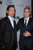Brad Pitt, George Clooney — Stock Photo