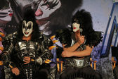 Gene Simmons, Paul Stanley at the KISS & Motley Crue Press Conference, Roosevelt Hotel, Hollywood, CA 03-20-12 — Stock Photo