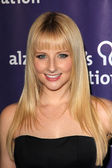 """Melissa Rauch at the 20th Anniversary Alzheimer's Association """"A Night at Sardi's,"""" Beverly Hilton Hotel, Beverly Hills, CA 03-21-12 — Stock Photo"""