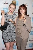 Francesca Fisher-Eastwood, Frances Fisher at the 41st Annual Peace Over Violence Humanitarian Awards, Beverly Hills Hotel, Beverly Hills, CA 10-26-12 — Stock Photo