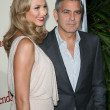 Stacy Keibler and George Clooney — Stock Photo #14406451