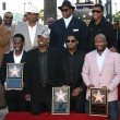 Jimmy Jam,Terry Lewis, Kenny Edmonds, Shawn Stockman, Michael McCary, Wanya Morris and Nathan Morris at the Boyz II Men Star On The Hollywood Walk Of Fame Ceremony, Hollywood, CA 01-05-12 — Stock Photo